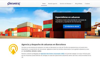 Foto de la programación web de Gecotex Internacional una agencia de aduanas