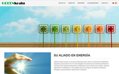 foto del diseño de la paginas web de Greenkoala