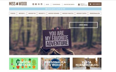 Foto del Diseño Web de MissWood desarrollado por Metacom