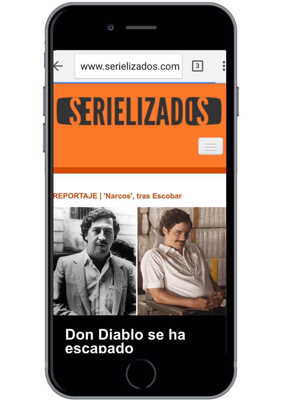diseño web responsive de serielizados