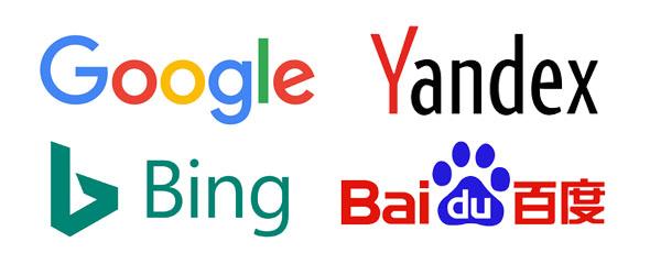 Buscadores internacionales Google, Bing Yandex y Baidoo