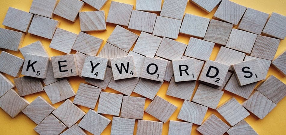 Letras de Keywords en Metacom