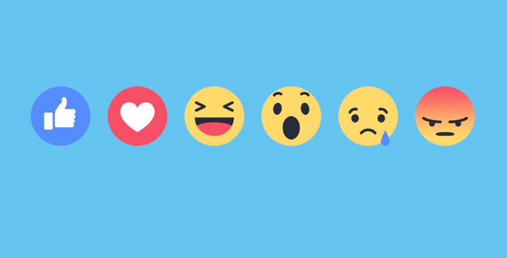 reacciones emoticonos de FaceBook