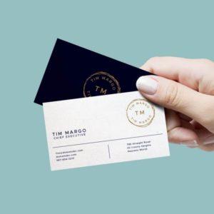 Diseño de tarjetas comerciales Metacom Barcelona