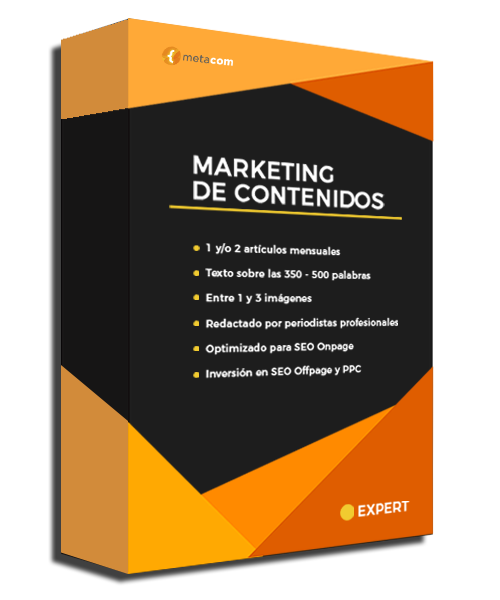 Packaging Marketing de Contenidos Expert