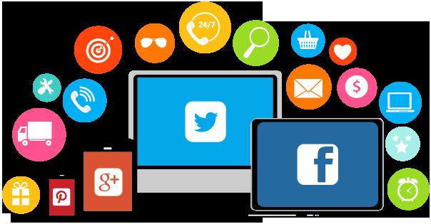 imagen de los iconos de la redes sociales