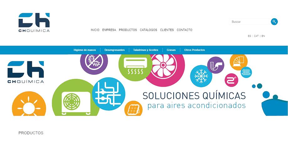Pantallazo página web CH Química