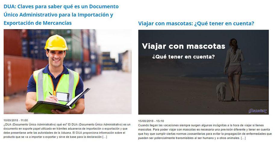 Pantallazo blog Gecotex