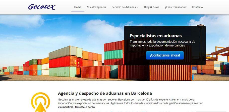 Pantallazo página web Gecotex