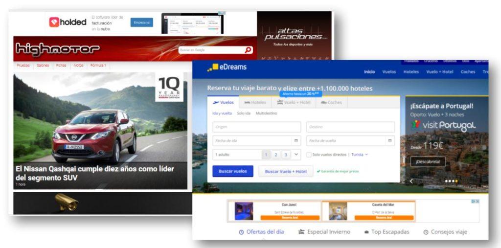 Publicidad Webs / Blogs