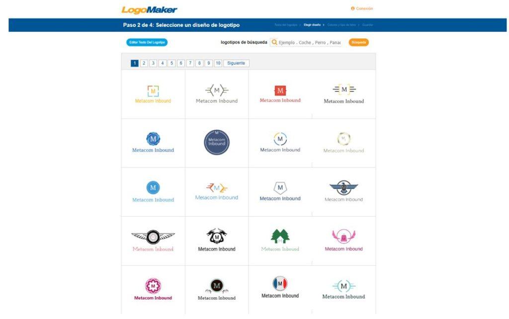 Crear un logo con Logo Maker