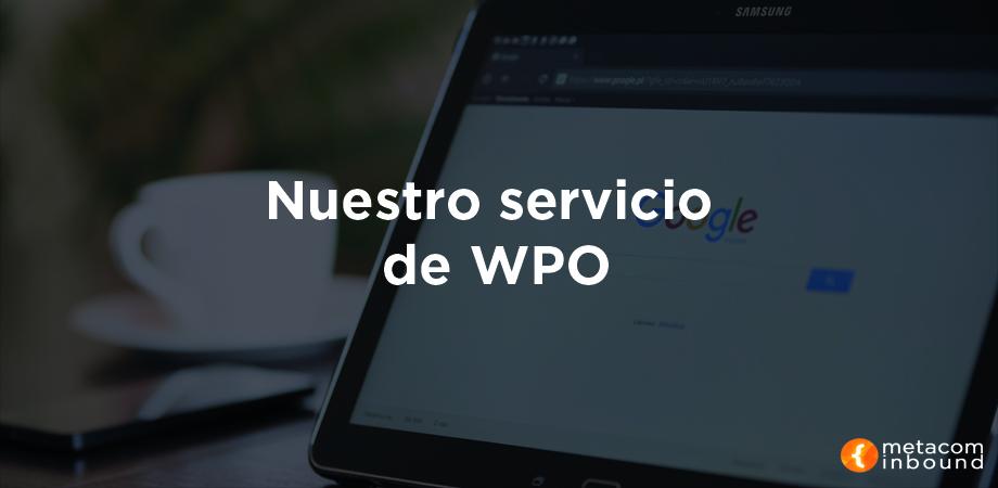 Nuestro servicio de WPO
