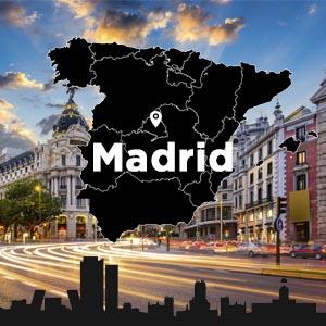 Mapa de la Oficina de Inbound Markting en Madrid